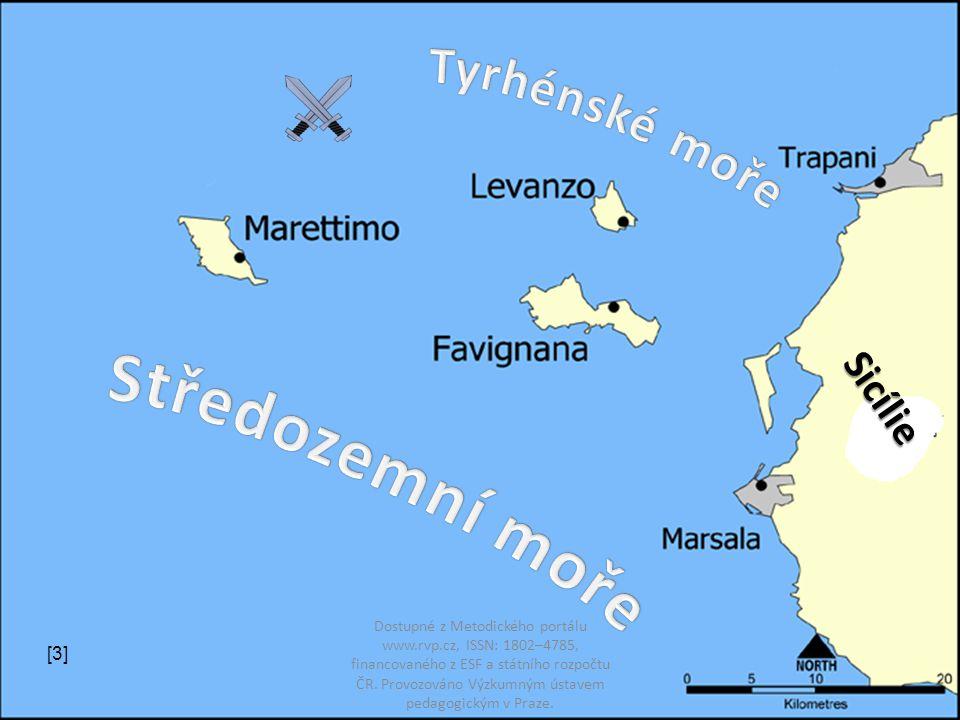 Středozemní moře Tyrhénské moře Sicílie [3]